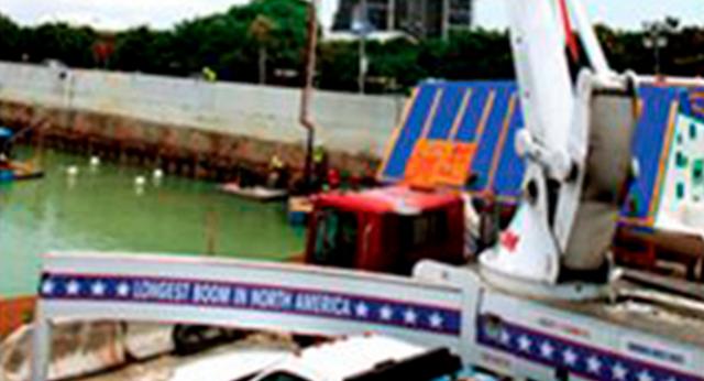 El túnel de Miami comienza vertido maratónico de plataformas